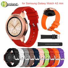 Replacemet strap for Samsung Galaxy Watch 42mm wrist 20mm smart watchband for Samsung Gear S2 Classic R732 Bracelet new Silicone(China)