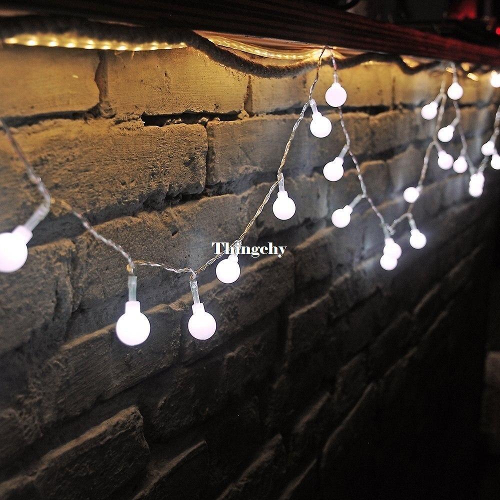 AC220V 5M 28LED Cherry Ball lampu tali mentol Garland LED hiasan - Pencahayaan perayaan - Foto 4