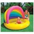 Tamanho grande Inflável Crianças Banheira Família Rainbow Estilo Dos Desenhos Animados de Natação Protetor Solar Piscina de Água Piscina Bebe zwembad A201