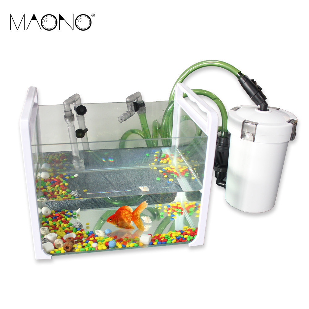 Stock clearance technology hw 602b 603b mini aquarium for Outdoor fish tank filter