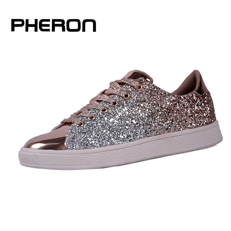 Décontracté femmes baskets Femme 2019 marque Krasovki luxe femmes chaussures plates Tennis Scarpe Donna paillettes Feminino Zapatos Mujer