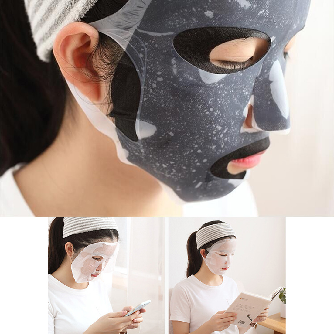 Hot Sale 1 PC Silicone Face Mask Cover Prevent Mask Evaporation Speed Up The Absorption Moisturizing Facial Mask Cover