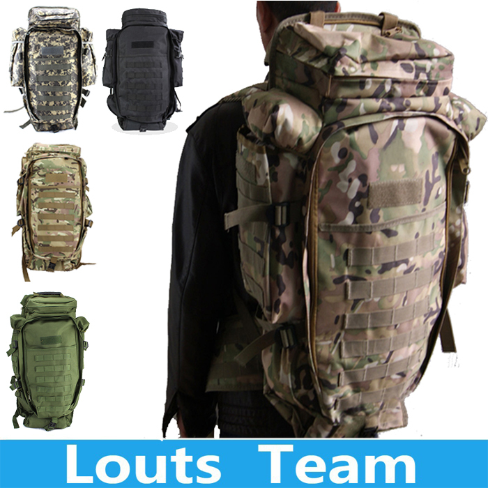 2018 100 Men Women Military Tactical Hiking Rifle Bag Trekking Travel Camping Outdoor Sport Backpack Rucksacks