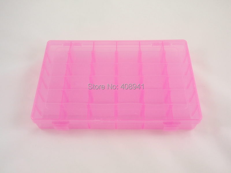 Gros Boucle Organisateur lot Container Réglable Bijoux Compartiments Boîte De Livraison D'oreille Les 30 En Outil Plastique Pcs Pour Gratuite 36 À OTqR5