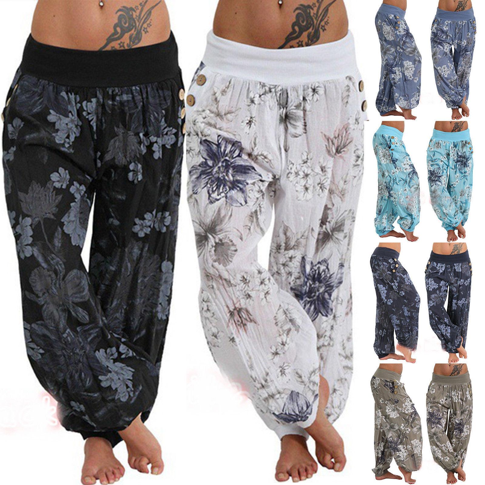 Women Aladdin Harem Baggy Hareem Trousers Ladies Boho Pants Plus Size Ali Baba