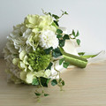 Hermosa dama de Honor Nupcial de La Flor ramo de la boda ramos de novia ramo de la flor artificial Verde