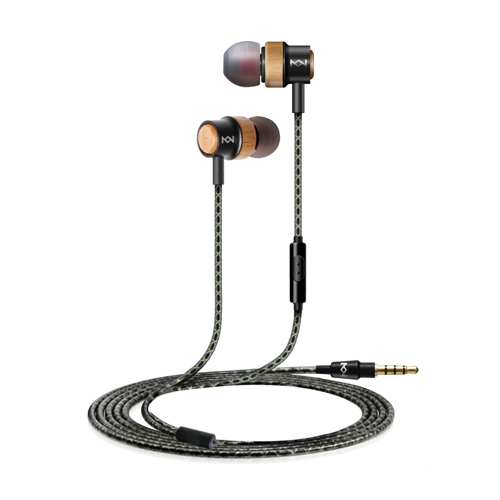 H800 Wooden Earphone 3 5mm In Ear Earpiece With Mic
