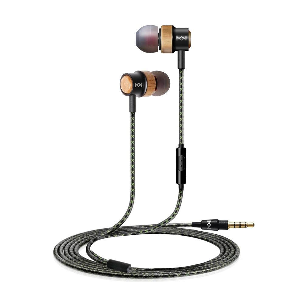 H800 Wooden Earphone 3.5mm In Ear Earpiece with MIC