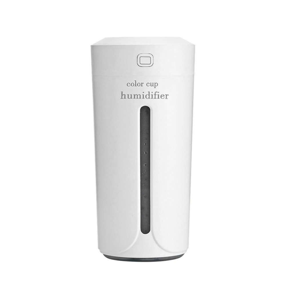 Cup Shape USB Charging Car Office Air Humidifier With Colorful Night Light Mini Portable Essential Oil Aroma Diffuser