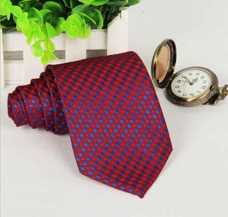 SHENNAIWEI mężczyzn 2018 łucznictwo krawat gradient czerwony i niebieski royal polka dot krawat 8 cm gravatas slim żakardowe luzem wiele corbatas