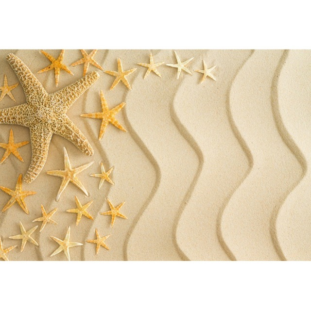 Laeacco Summer Beach Sands Starfish Shell Baby Children Photography Background Customized Photographic Backdrop For Photo Studio