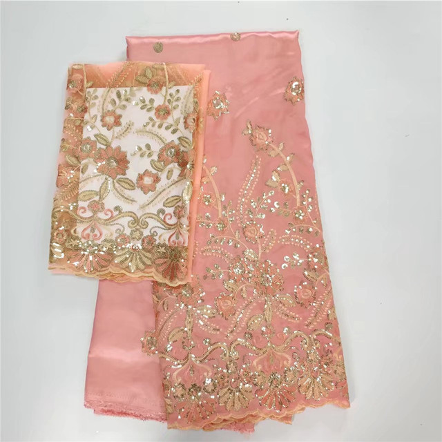 aa57cb8119ace4 Nigeria Georges for Wedding with 2yards Tulle Lace indian George wrapper  with Beads and Stones African George Fabric