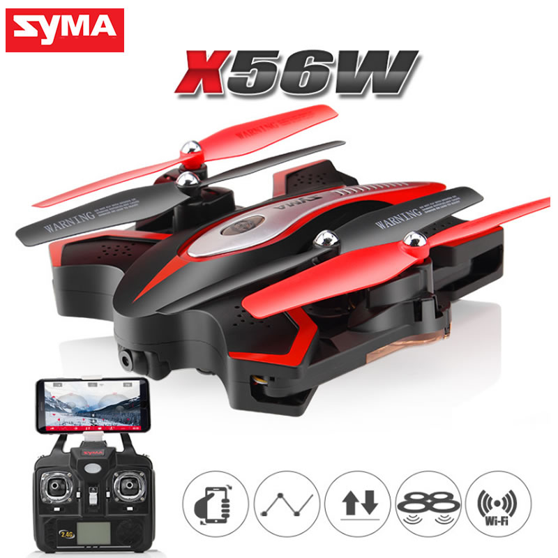 SYMA X56 X56W dron Folding Mini drone RC helicopter Quadrocopter With 4CH 2.4G Hover With Camera Remote Control Quad Copter Toys