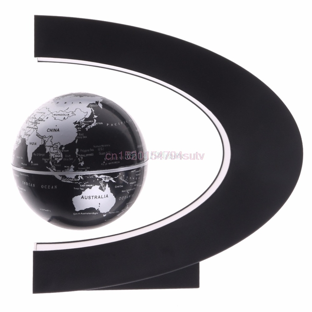 C shape magnetic levitation floating globe world map with led light c shape magnetic levitation floating globe world map with led light us plug gift h055 gumiabroncs Choice Image
