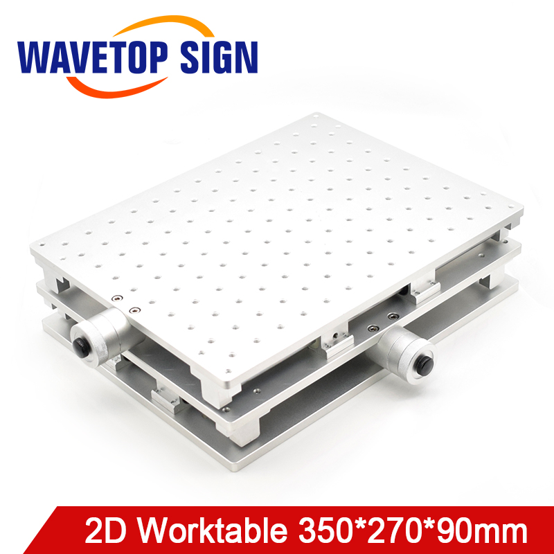 WaveTopSign Laser Mark Machine 2D Worktable 350 270 90mm X axis Adjustable 0 150mm Y axis