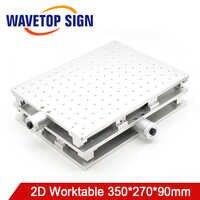 WaveTopSign Laser Mark เครื่อง 2D โต๊ะทำงาน 350*270*90 มม. X แกนปรับได้ 0-150 มม. Y - axis 0-190 มม. สกรู M6