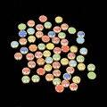 1000 unids/lote 4mm Cerámica Borde Blanco Y Granos de la Forma Redonda del Color Mezclado Mitad Flatback Cabochon Granos de la Perla Para DIY decoración