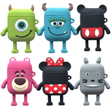 For Airpods Super Cute Cartoon Soft Silicone Bluetooth Wireless Earphone Cases For Apple AirPods 1 2 Charging Protective Cover шлем велосипедный stg hb8 3 детский размер s