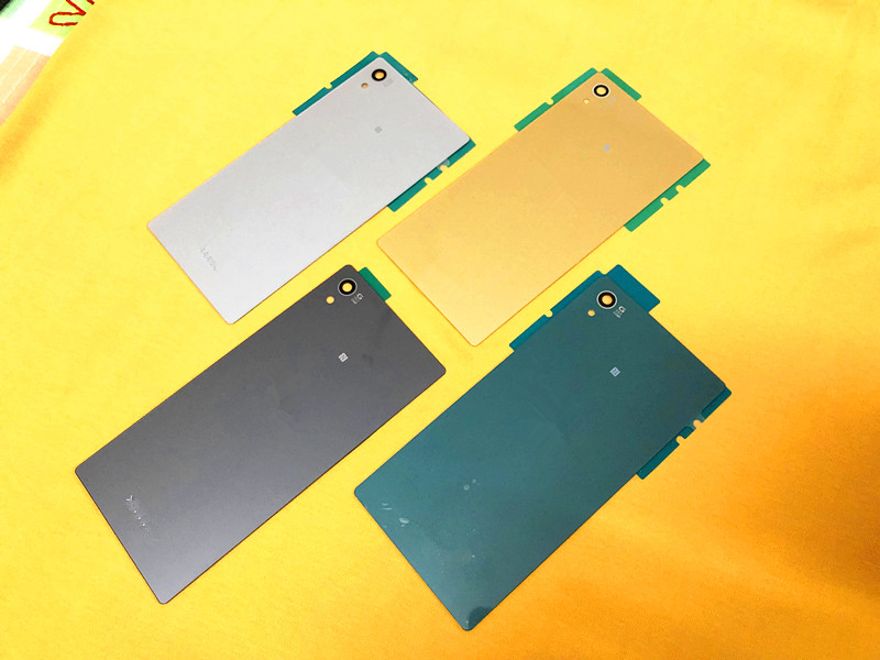 Back Rear Glass Cover Housing For Sony Xperia Z5 E6603 E6633 E6653 E6683 Battery Door Lid Shell Case Part +LOGO+Adhesive