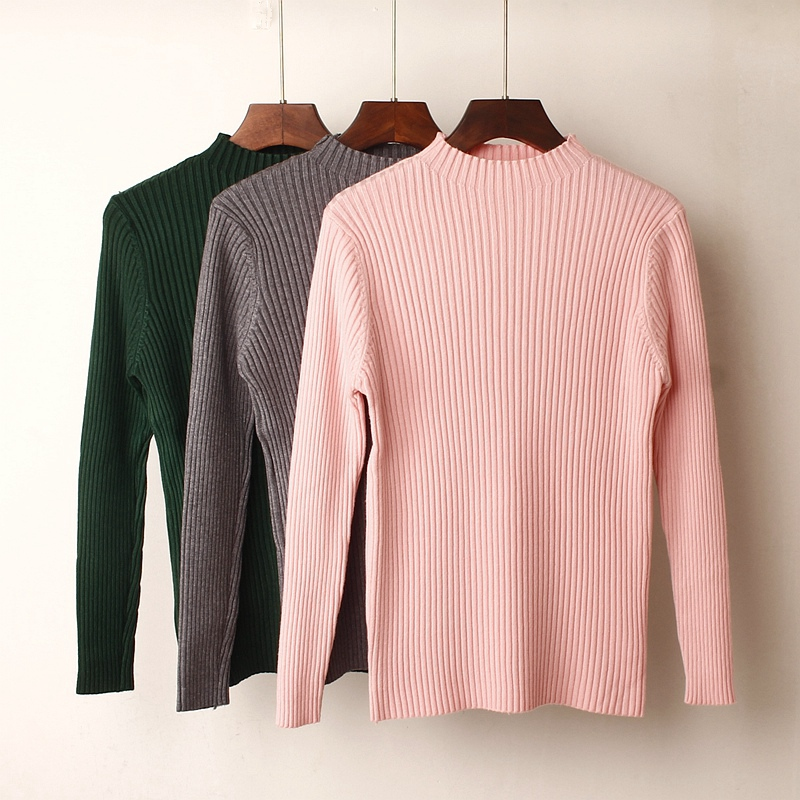05b964d26117 Thick Warm Women Sweaters and Pullovers Autumn Winter Jumper High  Elasticity Soft Ribbed Knitted Sweater Tops