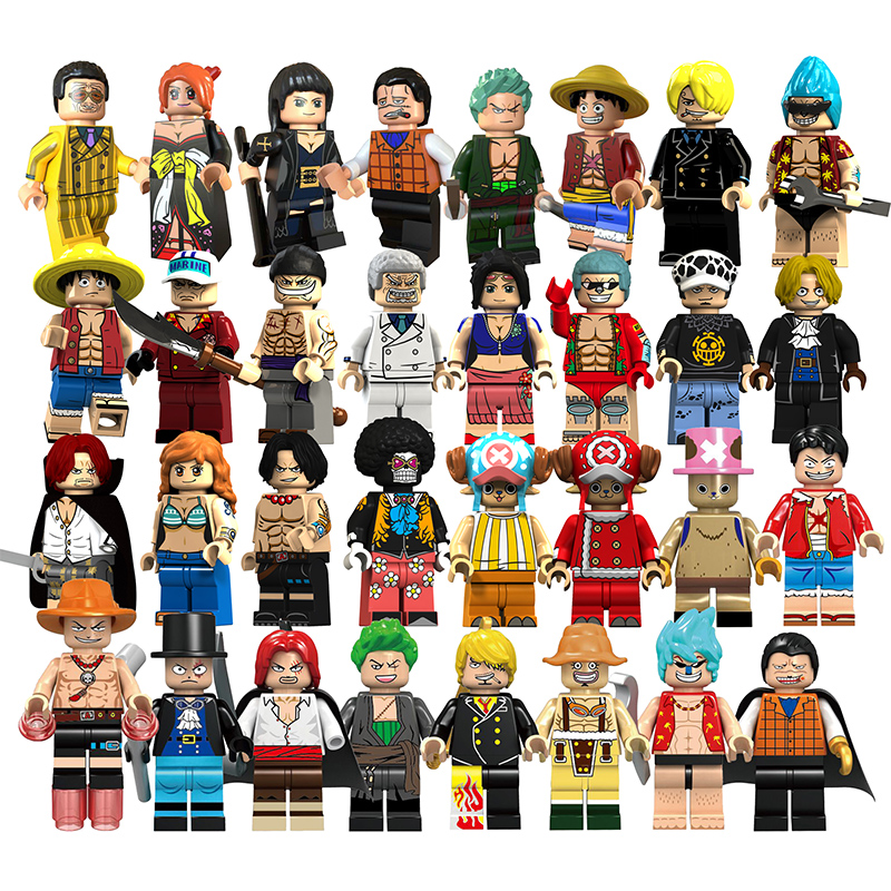 Single Sale One Piece Series Figures Building Blocks Roronoa Zoro Vinsmoke Sanji Weapons Building Blocks Model Toys For Children