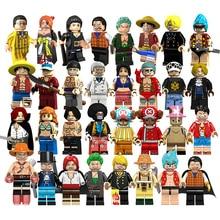Single Sale One Piece Series Figures Building blocks Roronoa Zoro Vinsmoke Sanji weapons Blocks Model Toys For Children