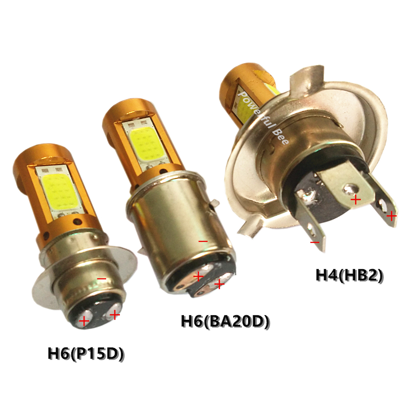 New 12-80V Power 39W 4COB LED Cold White Motorcycle Car Bike Headlight Bulb H4 H6/BA20D P15d Hi/Lo Beam Headlamp