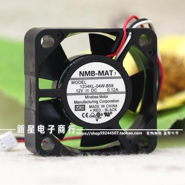 Marca original novo 1204KL-04W-B59-B00 3010 0.12A 12 V bola ventilador de refrigeração