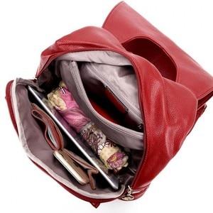 Image 5 - 女性の旅行ショルダーバッグ革多機能大学プレッピーバックパック女性ティーンエイジャーのガールズデイリーバックパック