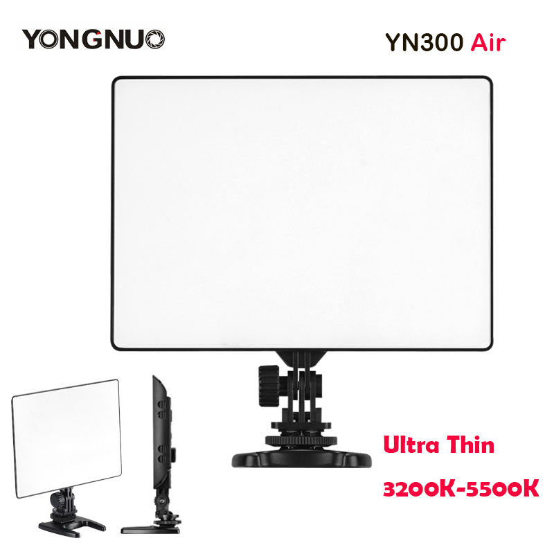 New YONGNUO YN300 Air 3200K-5500K Ultra Thin On Camera Led Video Light Pad Panel for Canon Nikon Sony Panasonic