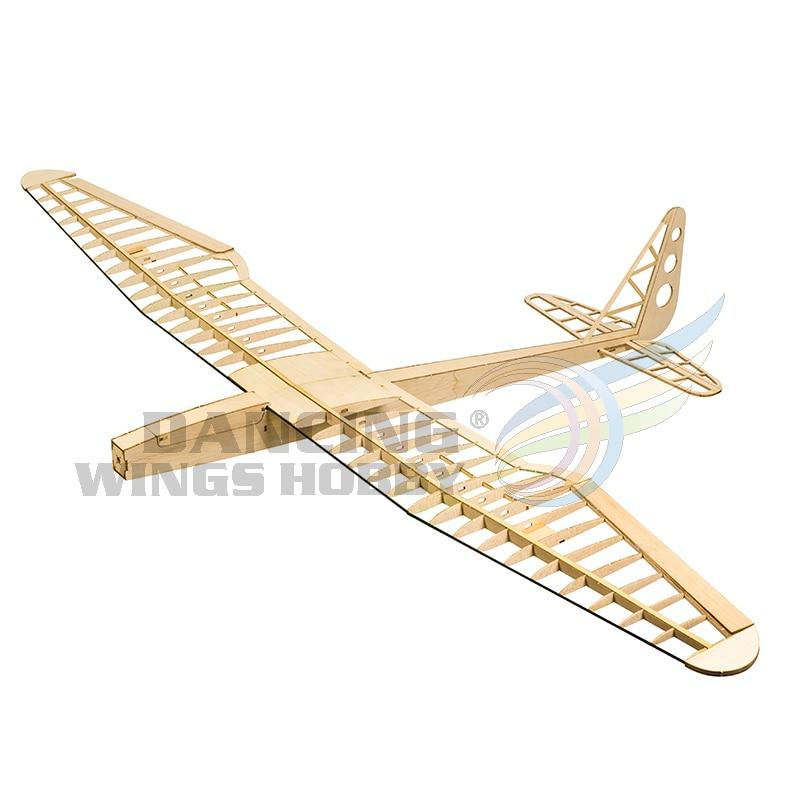 1 6M Laser Cut Balsa Wood Flying Model Aircraft Kits DIY 4CH Radio