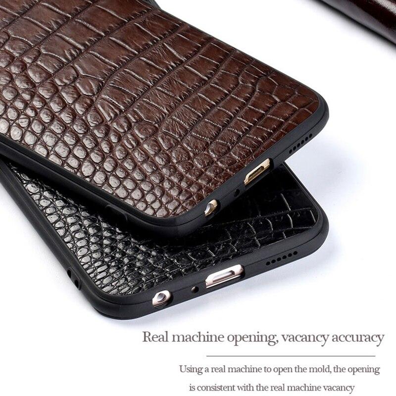 Натуральная страусиная кожа для huawei p30 P20 Lite pro mate 20 кожаный чехол для телефона для Honor 20 20 Pro 8x v20 Защита от падения - 5