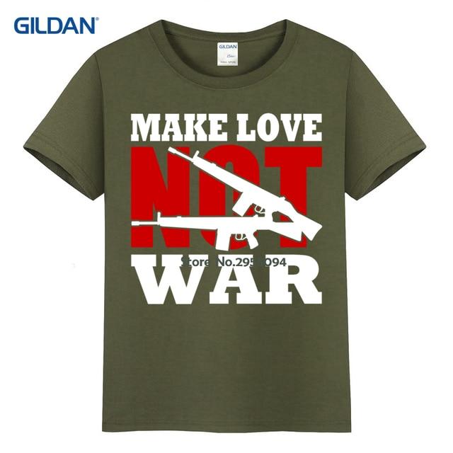 7aa05b25d Online Shop Tee Shirt Customisation 2017 Make Love Not War White ...