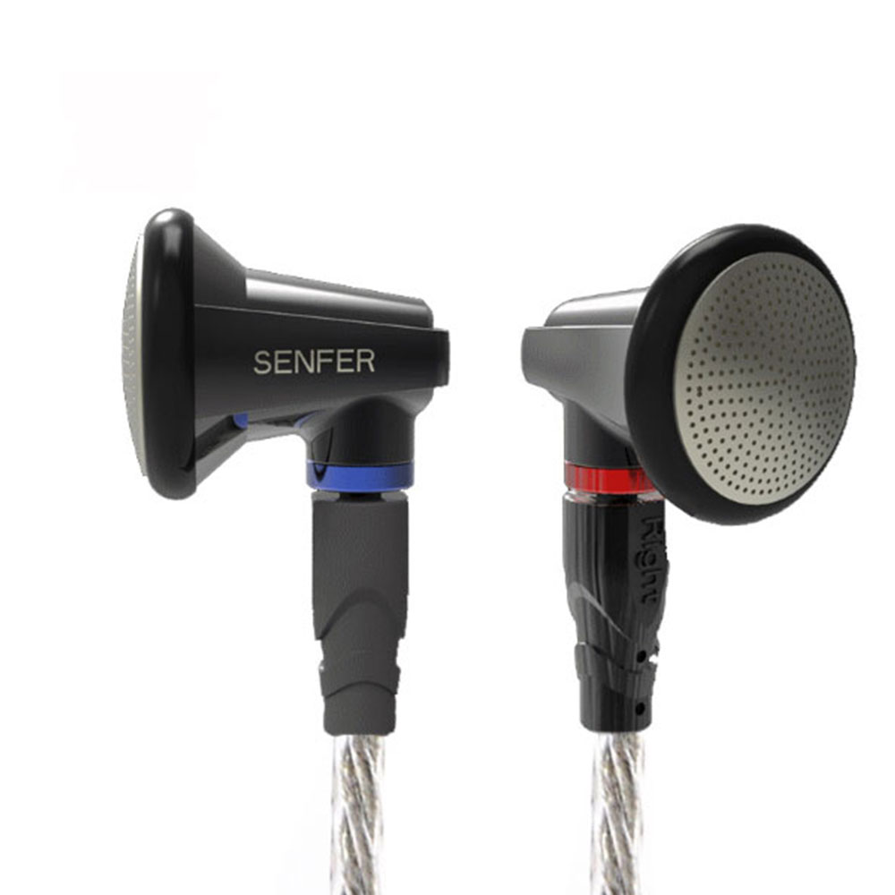 New SENFER PT15 Earburd Graphite bush Dynamic Driver In Ear Earphone HIFI Earplhone With MMCX Interface
