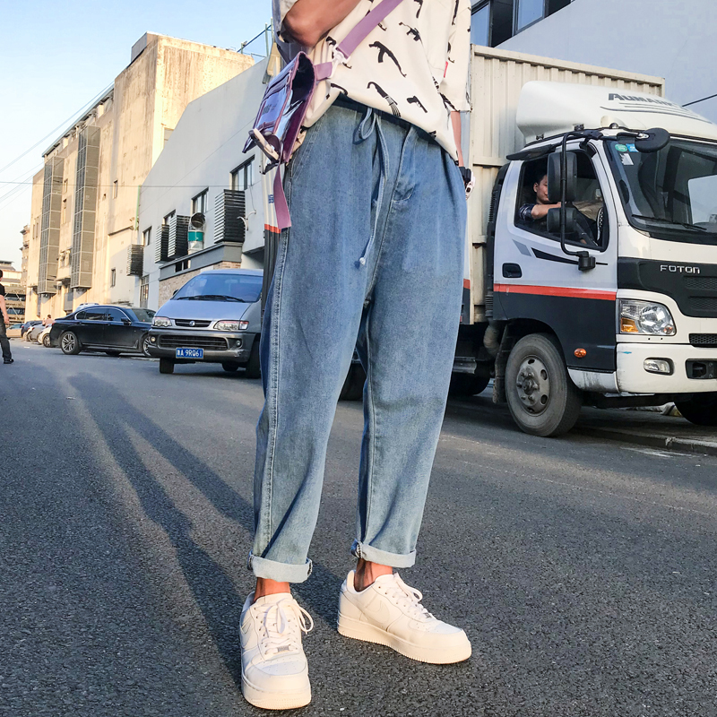 Osituca Comprar Denim Jeans Hombres 2018 Azul Suave Vaqueros Slim Fit Para Streetwear Hombre Flojo Recta Pantalones De Mezclilla Online Baratos