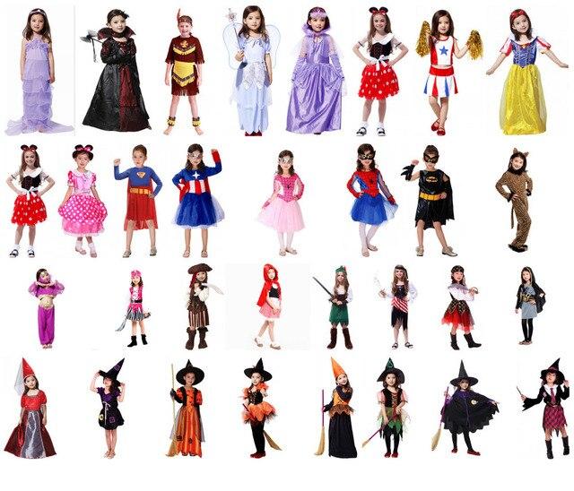 2015 New Halloween Costume For Kids Girl Batgirl Witch Vampire
