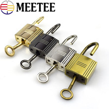 2/5/10sets Meetee Gold Silver Gun Black Brass Lock Key Accessories Stripe Bag Hanging Padlock  Handbag Buckle Hardware G9-1