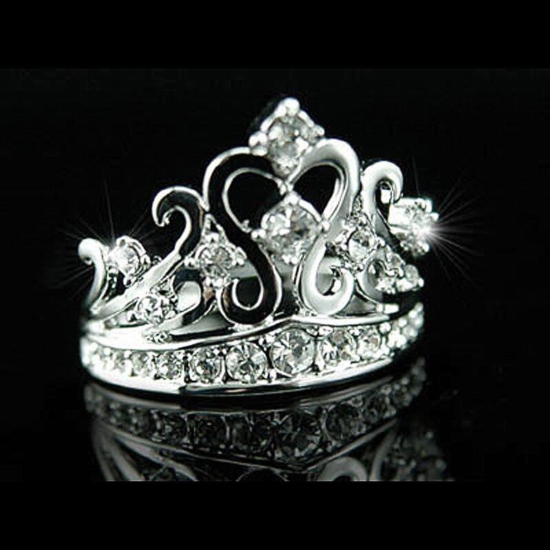 Peacock Star Crown Ring use Austrian Crystal - CSR033
