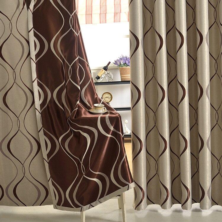 US $23.5 18% di SCONTO|Nuovo Stile Moderno Onda Jacquard Tende per  soggiorno camera da letto finestra del Balcone tendaggi Su misura  Geometrica Tenda ...