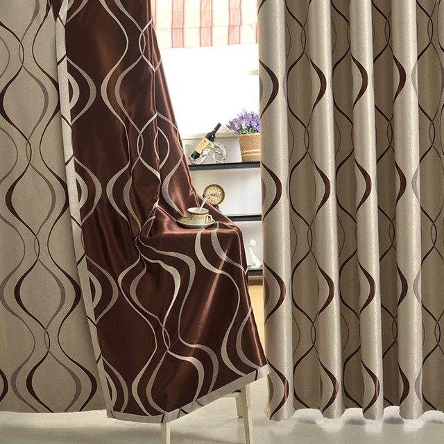 aliexpress.com : acquista nuovo stile moderno onda jacquard tende ... - Tende Per Soggiorno Stile Moderno 2