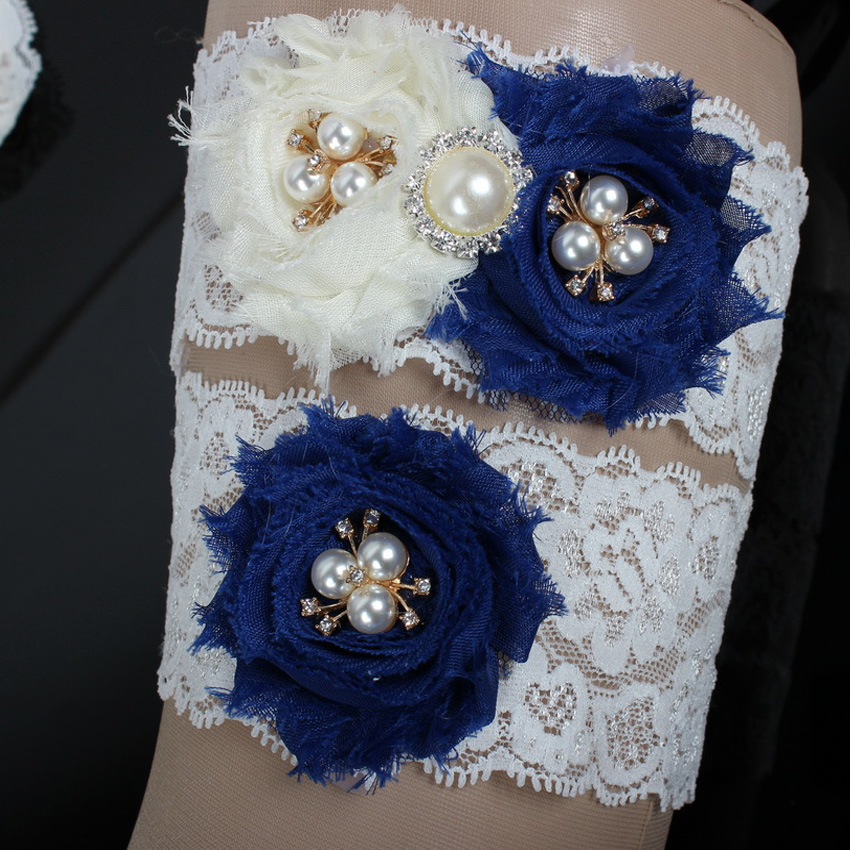 Cute Sexy Lace Wedding Leg Garter Toss Garter Ivory