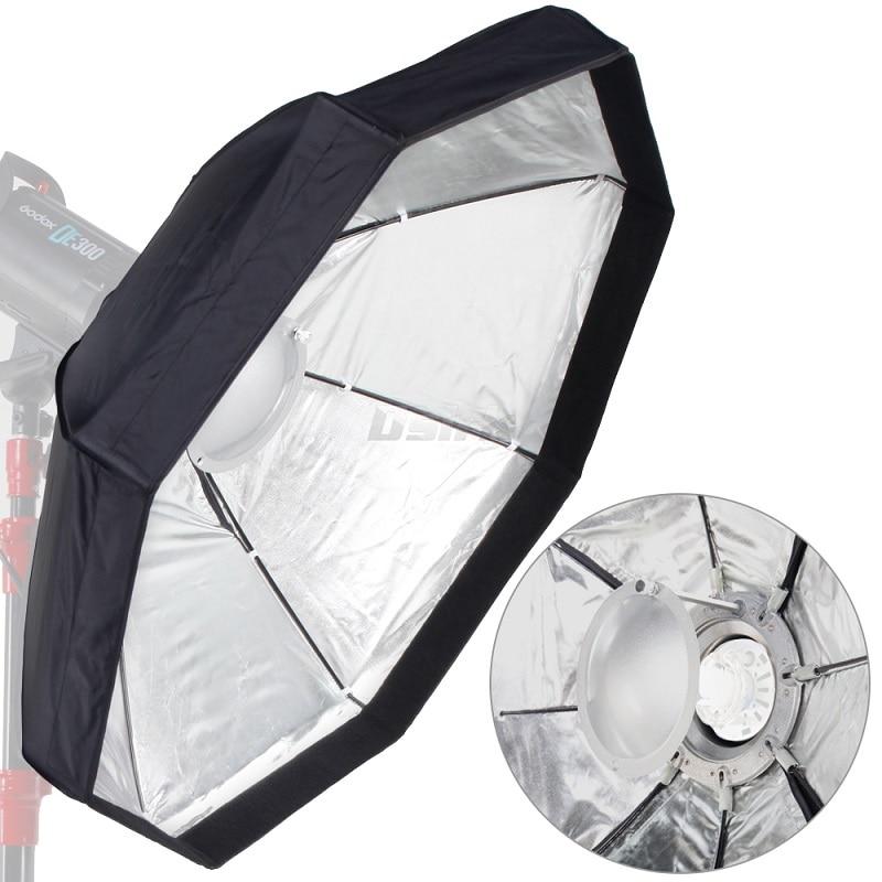 8-Pole 60cm 24'' Silver Beauty Dish Foldable Octagon Softbox with Bowens Mount for Studio Strobe Flash Light Reflecting dish ashanks 55cm 22 studio silver beauty dish bowens mount honeycomb grid diffuser sock