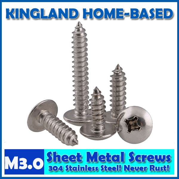M3 Phillips Cross Recessed Mushroom Truss Head Self Tapping Wood Metal Sheet Screws 304 Stainless Steel DIY Repair Never Rust yt807 304 stainless steel phillios self tapping screws cross recessed pan head tapping screw m5 xmm free shipping