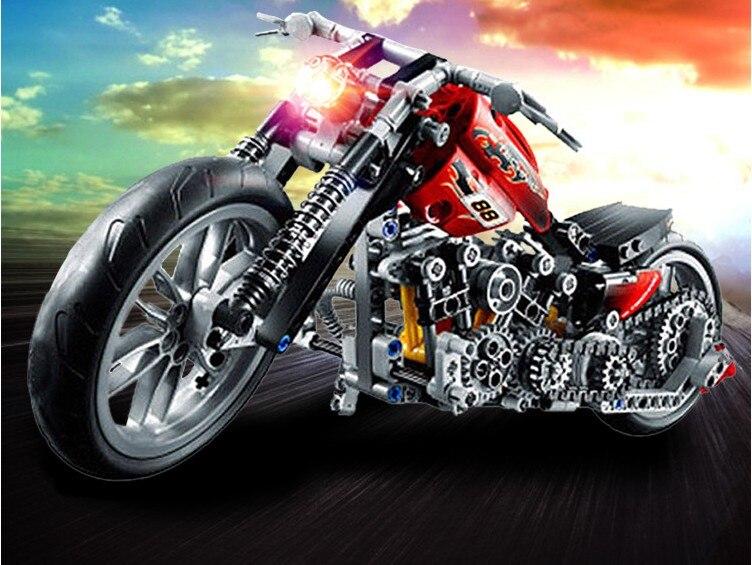 ホット378ピース3353テクニックオートバイExploitureモデルハーレー車両ビルディングレンガブロックセットおもちゃギフトFSWOB