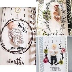 Fantasia bebê folha de cama newborn fotografia adereços crescimento mensal fundo cobertores adorável doce