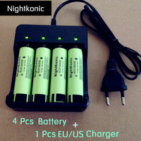 10 Pcs Lot Strong Light Flashlight And Camera Battery 18650 Rechargeable Battery Capacity 6800 MAh 3