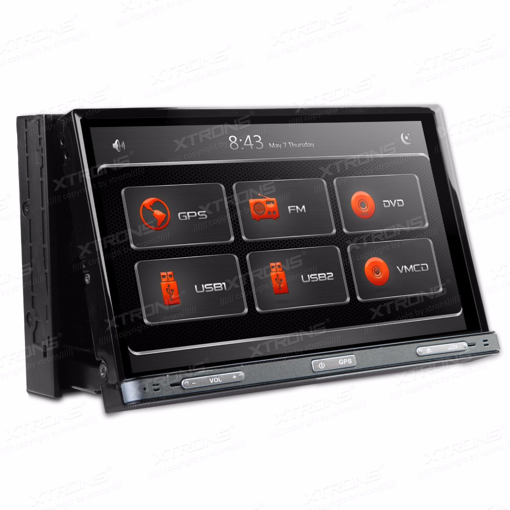 7 1080p video 2 din car radio motorized touch screen. Black Bedroom Furniture Sets. Home Design Ideas