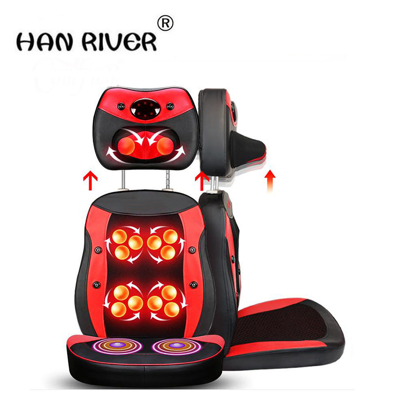 HANRIVER Cervical spine massager massage cushion body multi-purpose household massage cushion for leaning on of massage chair цена