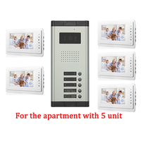 5 Apartment Doorbell Video Intercom apartment intercom entry system 7 Inch Lcd Video Door Phone Intercom System Video Intercom