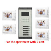 5 Apartment Doorbell Video Intercom apartment intercom entry system 7 Inch Lcd Video Door Phone Intercom System Video Intercom